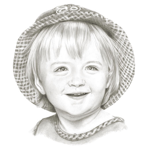 Pencil portrait of Alley