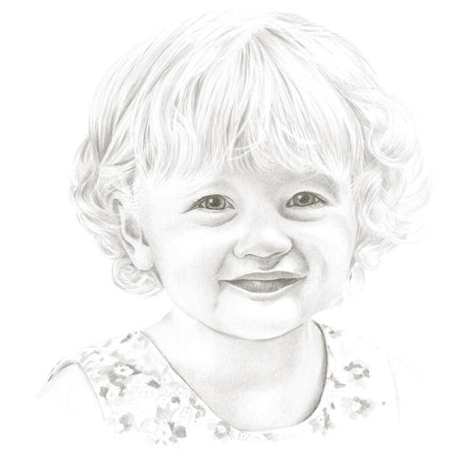 Pencil portrait of Charlotte