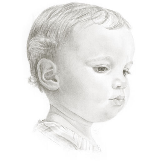 Pencil portrait of Freyha