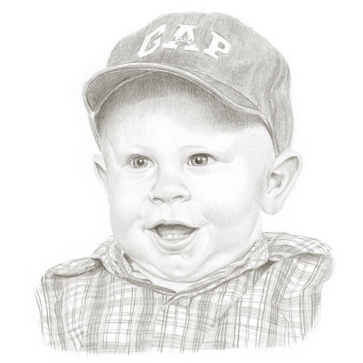 Pencil portrait of Lee