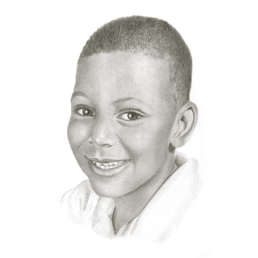 Pencil portrait of Louis
