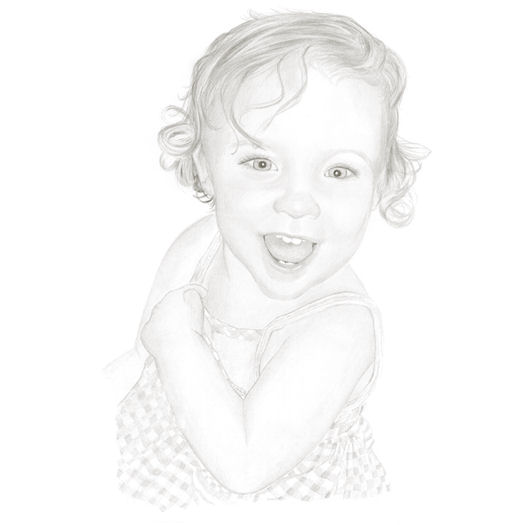 Pencil portrait of Alexandra